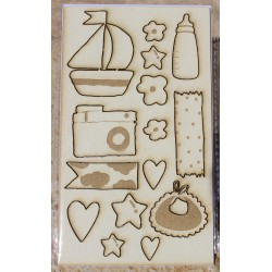 Chipboard Baby - M&M Petit...